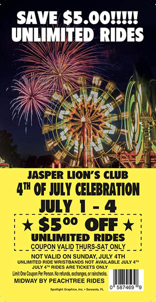 $5 Off Coupon for Unlimited Rides valid Thursday-Saturday available at local businesses.