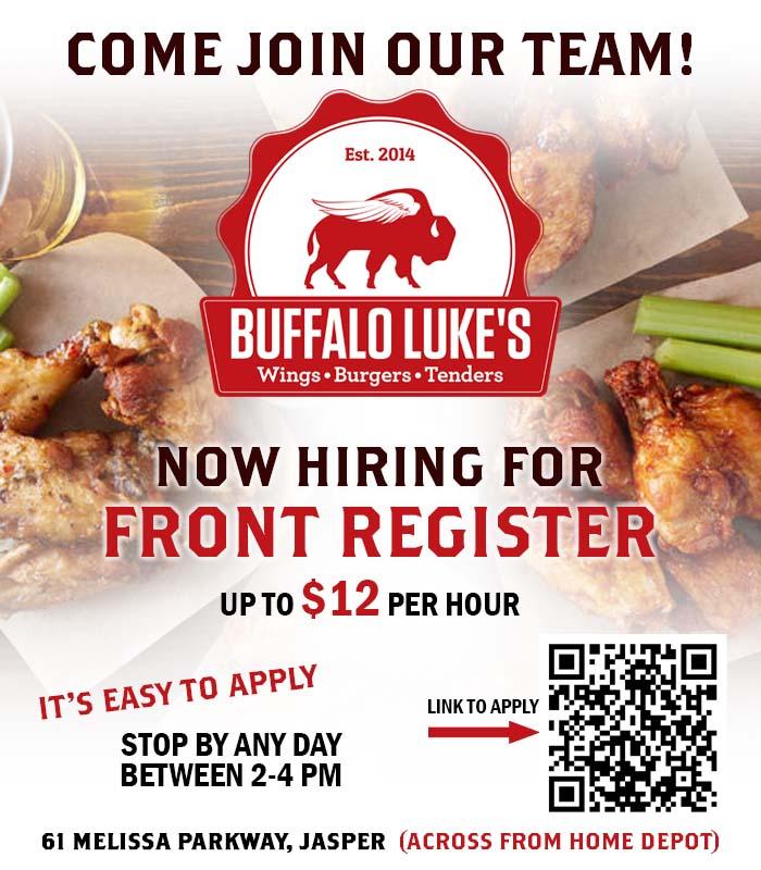 Come Join Buffalo Luke's Team!