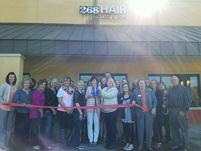Ribbon Cutting Celebration for 268 Hair Salon & Spa