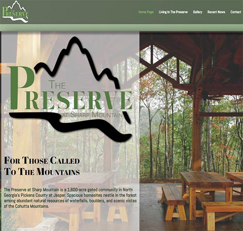 New Preserve at Sharp Mountain Website Portrays Harmony of Home and Nature