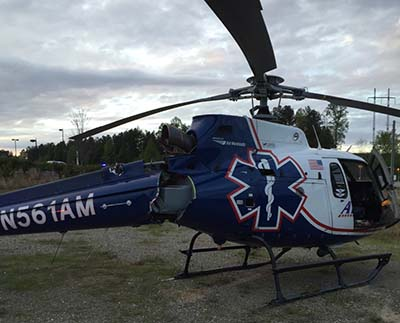 Hard Landing for Air Methods Helicopter at Piedmont Mountainside Hospital; No Injuries