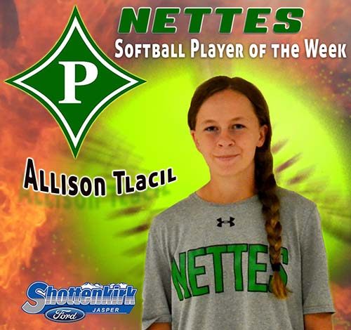 Allison Tlacil Named Softball Player of the Week