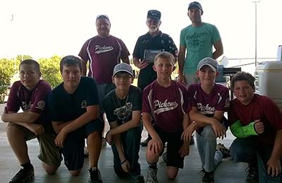 Little League Baseball Team Thanks Legion for Support