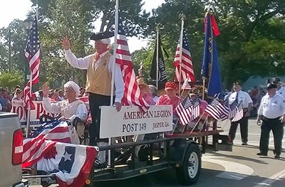 Legionnaires and Senior Center Share Float in Parade