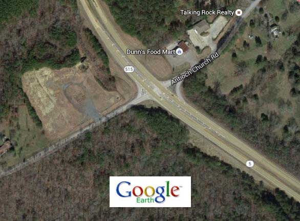 Georgia DOT Wants Your Two Cents in its Planning for Improving the Intersection of Highway 515 and Antioch Church Road in Pickens County