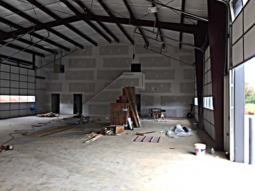 Final stages of construction on Pickens County Fire Station #12 off Carlan Road.