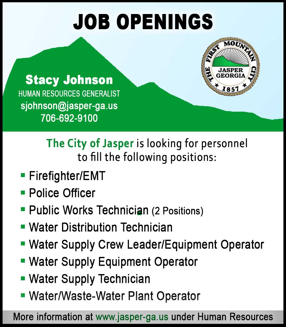 City of Jasper Job Openings