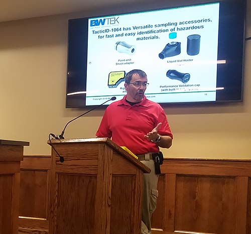 Presentation of Chemical Identification Device - TacticID