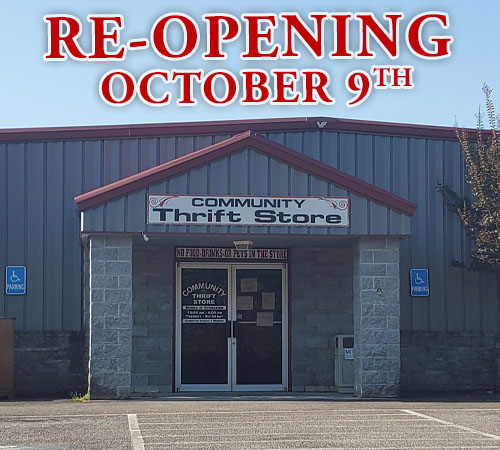 Community Thrift Store to Re-Open