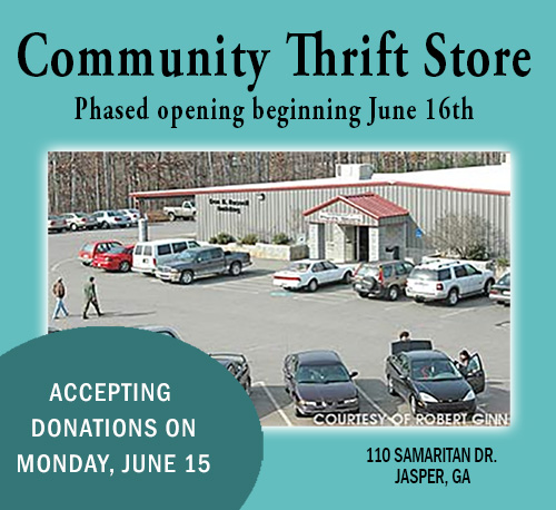 Community Thrift Store Phased Reopening Beginning June 16th