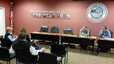 Pickens County Board of Commissioners February Work Session (Video)