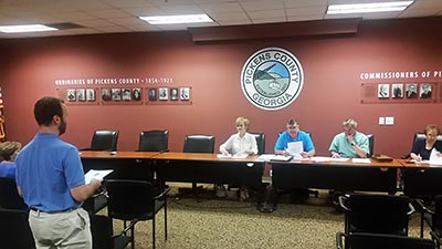 Pickens County Commissioners Work Session