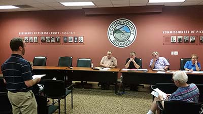 Pickens County Commissioners July Work Session (Video)