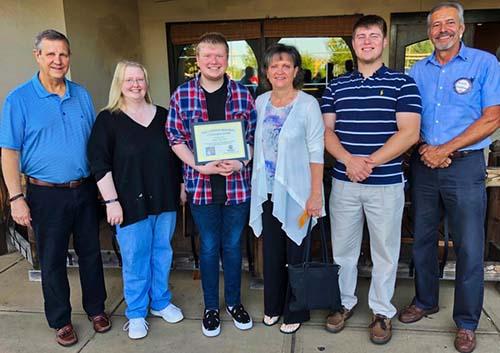 Von Hinton Citizenship Award Recipient, Dalton Crowe