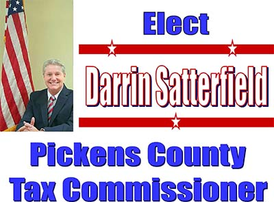 Darrin Satterfield Announces Candidacy for Pickens County Tax Commissioner