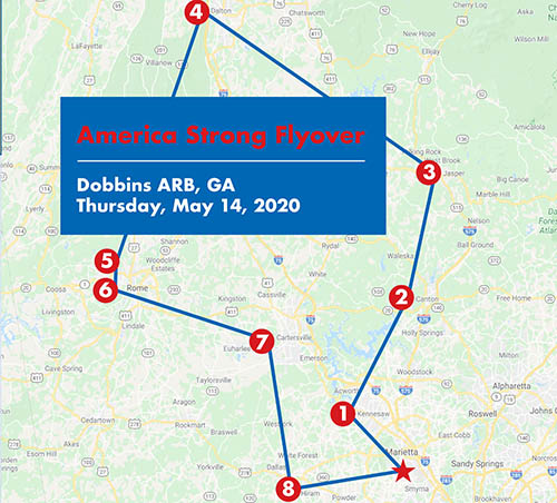 Dobbins Plans C-130 Flyover on Thursday to Honor Piedmont Mountainside Hospital