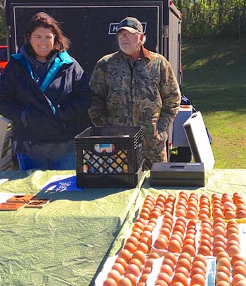 Dozens of Dozens of Eggs at the Jasper Farmers Market