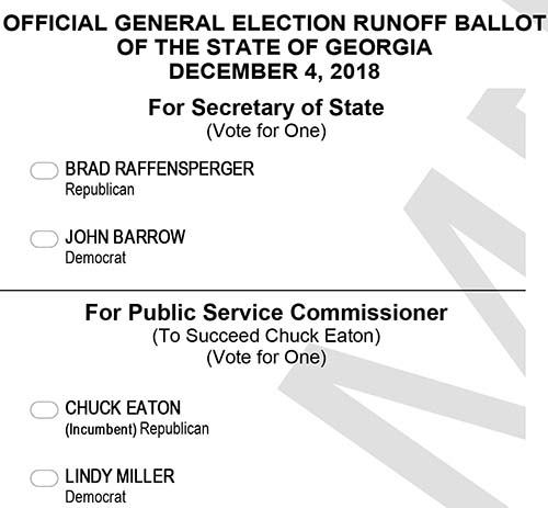 Advance In-Person Voting for the General Election Runoff This Week