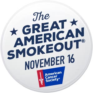 You can QUIT during the Great American Smokeout®, Nov. 16th
