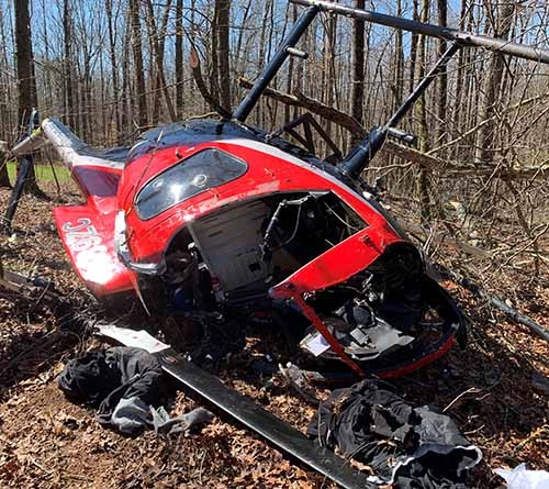 Helicopter Crash on Ellijay Road