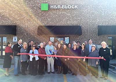 H&R Block Ribbon Cutting Held