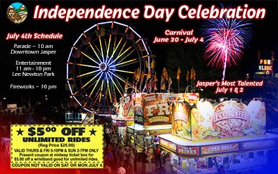 Jasper Lions Club's Independence Day Celebration