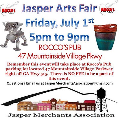Jasper Arts Fair This Friday, July 1st