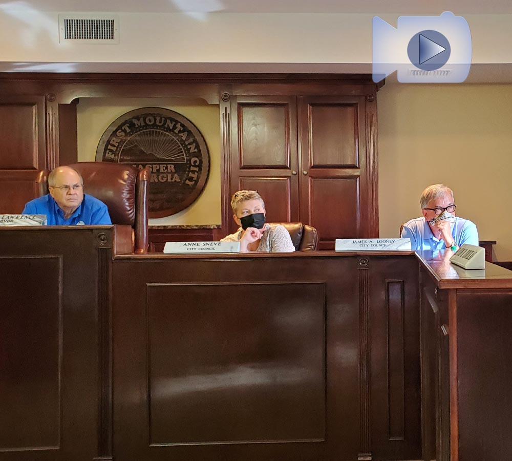 Jasper City Council Work Session, Public Hearing & Special Called Meeting August 2021