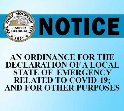 Jasper City Council Special Called Meeting | State of Emergency Declaration