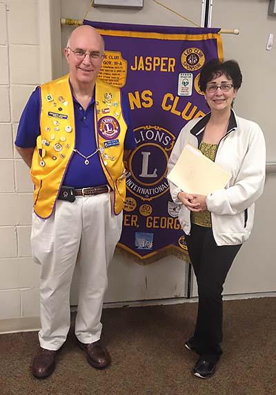 District 18-L Diabetes Chairman Attends Jasper Lions Club