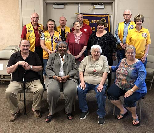 Jasper Lions Club 2019-2020 Officers Installed
