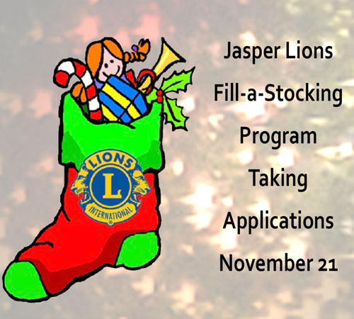 Jasper Lions Fill-a-Stocking Program Taking Applications November 21