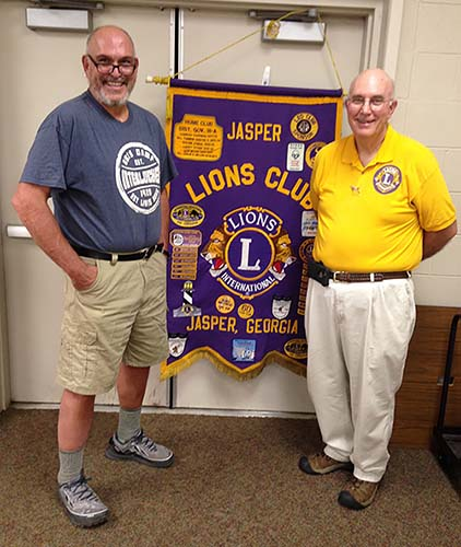 Rick Land Shares His Appalachian Trail Experience with the Jasper Lions