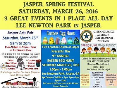 3 Events in 1 at the Jasper Spring Festival This Weekend