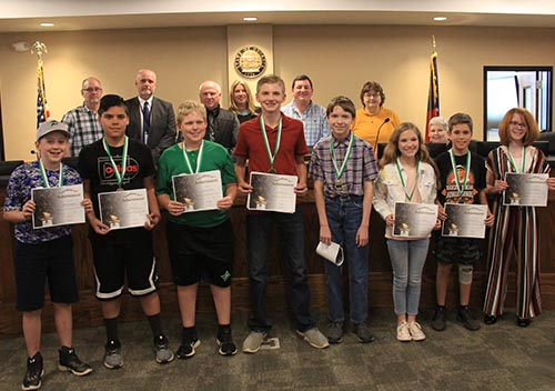 Jasper Middle School Math Team won 1st place at the Berry College Math Competition