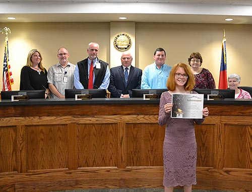 Julie Hermann recently won the Farm Bureau Essay Contest at our local agency as well as the District 1 level.