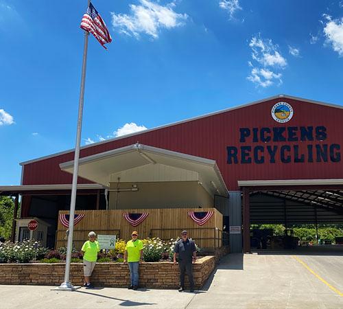 Pickens Recycling Center Wins Keep Pickens Beautiful's Green Ribbon Award