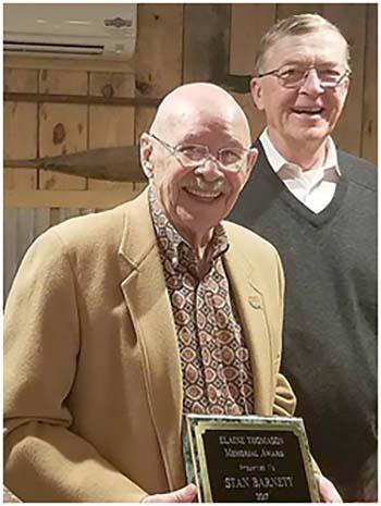 KPB Presents Stan Barnett With Elaine Thomason Award