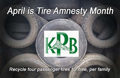 Tire Amnesty Month of April for Pickens County Residents