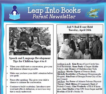 Leap Into Books Parent Newsletter