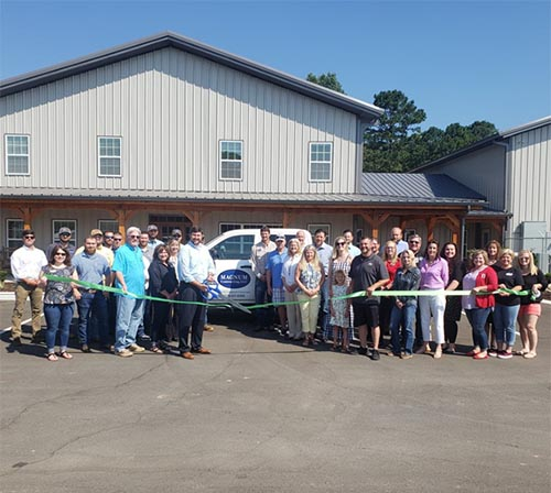 Chamber Ribbon Cutting at Magnum Contracting, Jasper