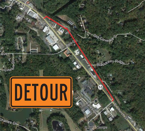 🎥 Portion of Highway 53 Closed Overnight Tuesday-Thursday, July 13-15
