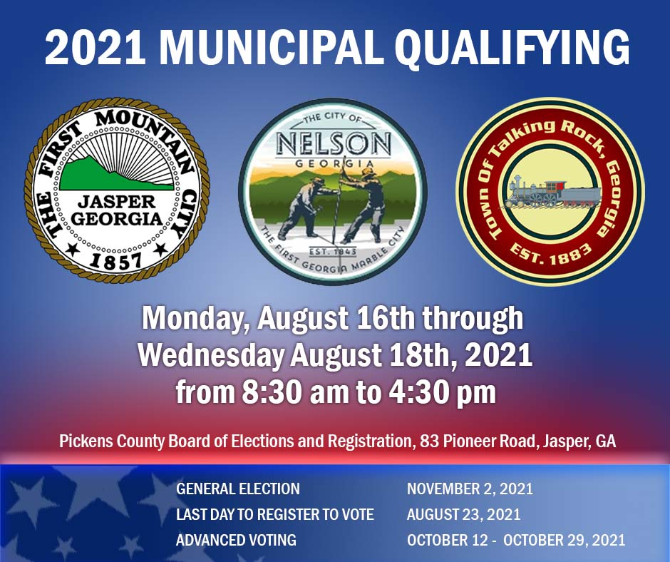 2021 Municipal Election Qualifying Ends