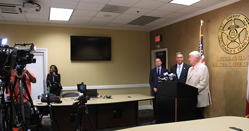 Press Conference at Pickens Sheriffs Office