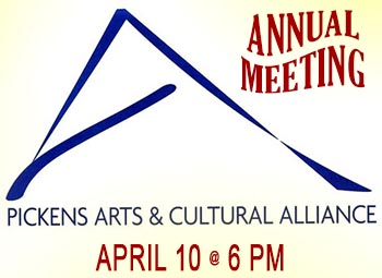 Pickens Arts and Cultural Alliance to Hold Annual Meeting