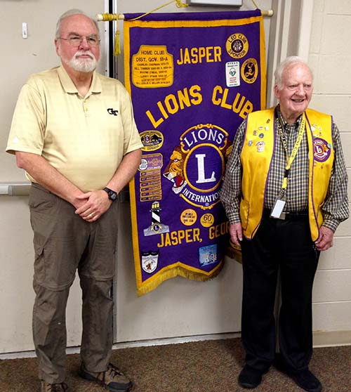 Jasper Lions Learn About The American Red Cross