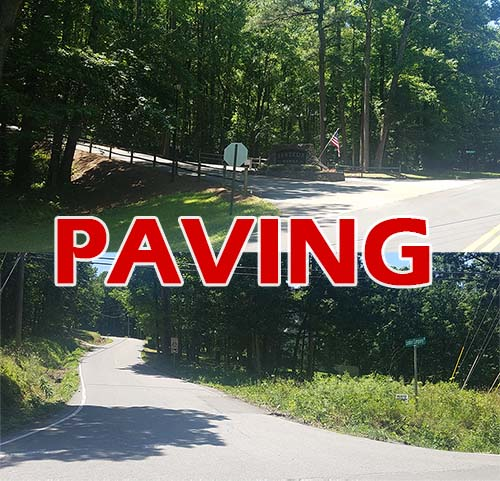 NOTICE:  Paving in Hunter's Ridge & Lumber Company Road