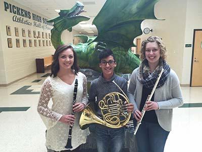 Three PHS Band Members in MAYWE