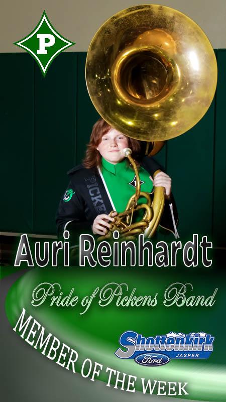 Auri Reinhardt Named PHS Band Member of the Week