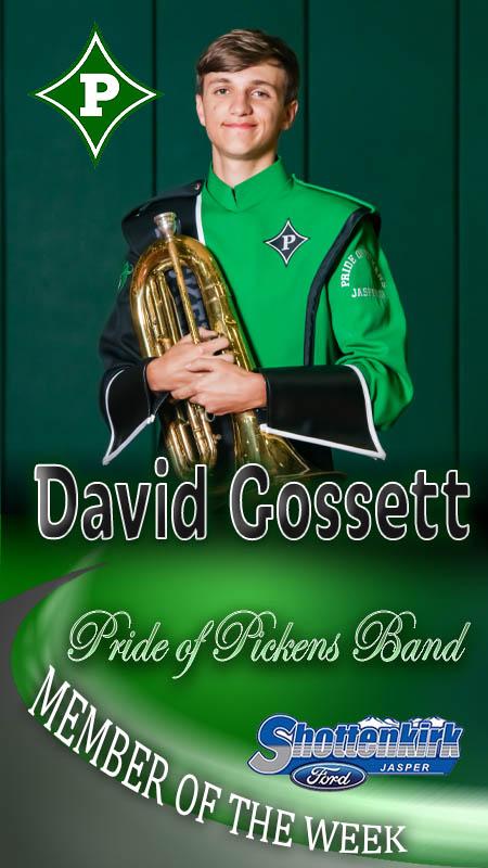 David Gossett Named PHS Band Member of the Week